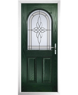 The Edinburgh Composite Door in Green with Crystal Harmony Frost