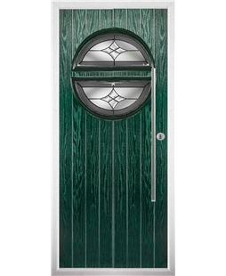 The Xenia Composite Door in Green with Crystal Harmony Frost