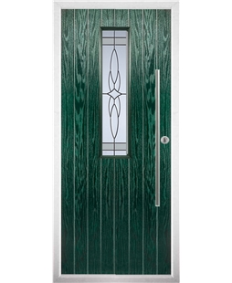The York Composite Door in Green with Crystal Harmony Frost