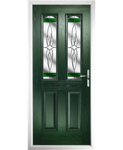 The Aberdeen Composite Door in Green with Green Crystal Harmony