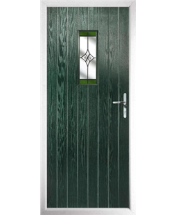 The Taunton Composite Door in Green with Green Crystal Harmony