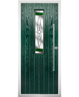 The York Composite Door in Green with Green Crystal Harmony