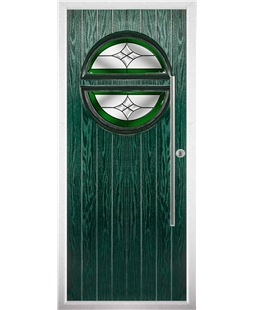 The Xenia Composite Door in Green with Green Crystal Harmony