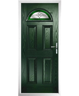 The Derby Composite Door in Green with Green Crystal Harmony