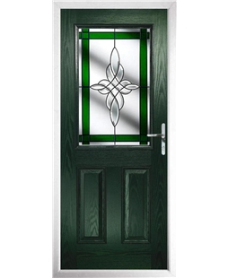 The Farnborough Composite Door in Green with Green Crystal Harmony