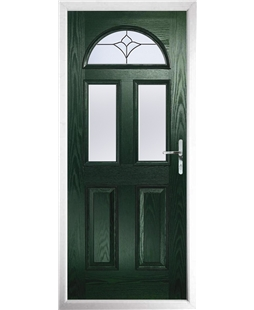 The Glasgow Composite Door in Green with Crystal Tulip Arch