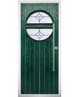 The Xenia Composite Door in Green with Crystal Tulip Arch