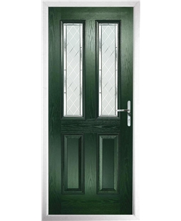 The Cardiff Composite Door in Green with Diamond Cut
