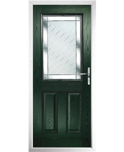 The Farnborough Composite Door in Green with Diamond Cut