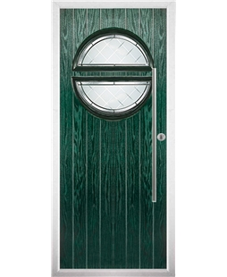 The Xenia Composite Door in Green with Diamond Cut
