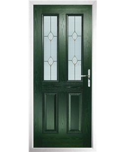 The Cardiff Composite Door in Green with Classic Glazing