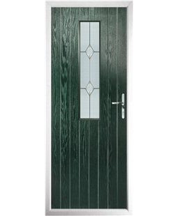The Sheffield Composite Door in Green with Classic Glazing