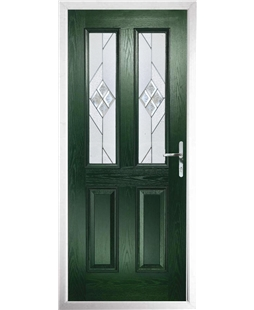 The Cardiff Composite Door in Green with Eclipse Glazing