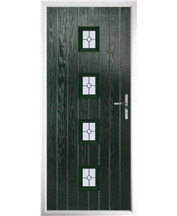 The Uttoxeter Composite Door in Green with Finesse Glazing