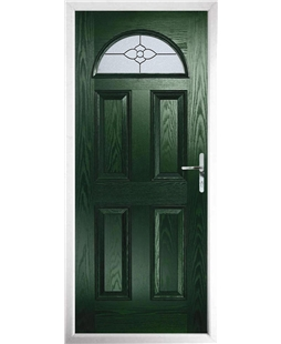 The Derby Composite Door in Green with Finesse Glazing