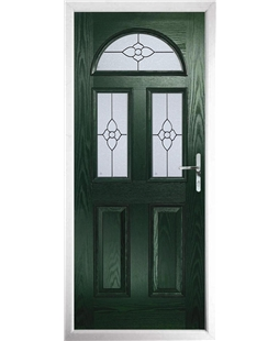 The Glasgow Composite Door in Green with Finesse Glazing
