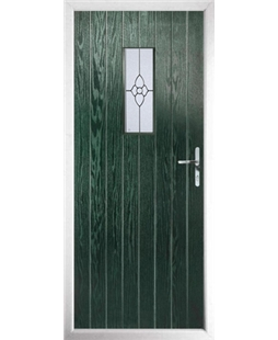 The Taunton Composite Door in Green with Finesse Glazing