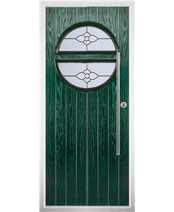 The Xenia Composite Door in Green with Finesse Glazing