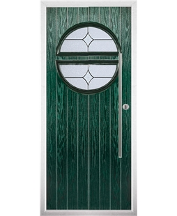 The Xenia Composite Door in Green with Flair Glazing