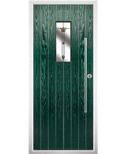 The Zetland Composite Door in Green with Fleur