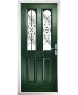 The Aberdeen Composite Door in Green with Green Fusion Ellipse