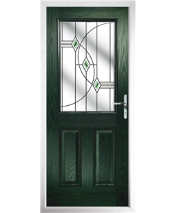 The Farnborough Composite Door in Green with Green Fusion Ellipse