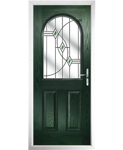 The Edinburgh Composite Door in Green with Green Fusion Ellipse