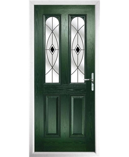 The Aberdeen Composite Door in Green with Black Fusion Ellipse