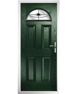 The Derby Composite Door in Green with Black Fusion Ellipse