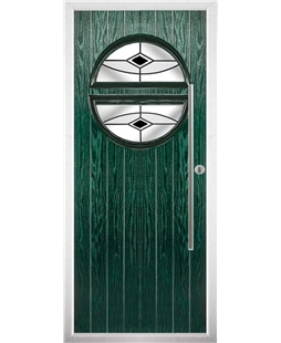 The Xenia Composite Door in Green with Black Fusion Ellipse