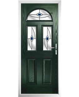 The Glasgow Composite Door in Green with Blue Fusion Ellipse