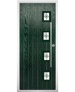 The Norwich Composite Door in Green with Fusion Ellipse Green