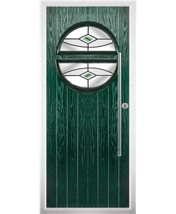 The Xenia Composite Door in Green with Green Fusion Ellipse
