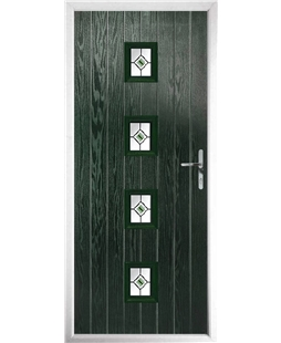 The Uttoxeter Composite Door in Green with Green Fusion Ellipse
