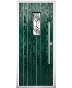 The Zetland Composite Door in Green with Simplicity