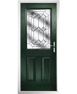 The Farnborough Composite Door in Green with Simplicity