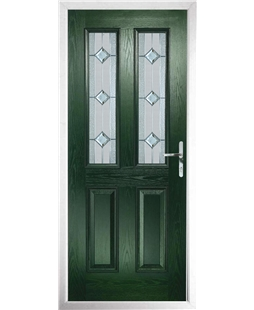 The Cardiff Composite Door in Green with Simplicity