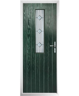 The Sheffield Composite Door in Green with Simplicity
