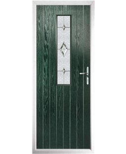The Sheffield Composite Door in Green with Crystal Diamond