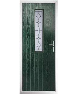 The Sheffield Composite Door in Green with Zinc Art Clarity