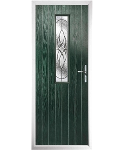 The Sheffield Composite Door in Green with Zinc Art Elegance