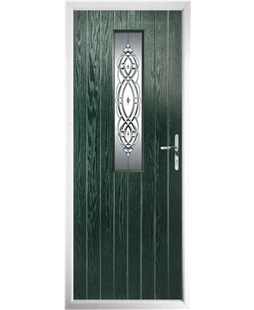 The Sheffield Composite Door in Green with Reflections