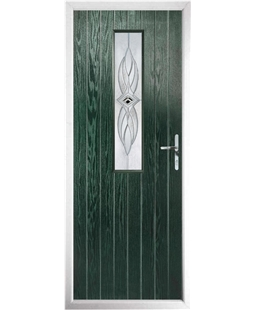 The Sheffield Composite Door in Green with Westminster