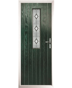 The Sheffield Composite Door in Green with Ice