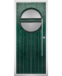 The Xenia Composite Door in Green with Clear Glazing