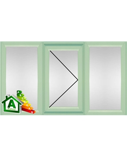 The Oxford uPVC Double / Triple Glazing Windows in  Chartwell Green