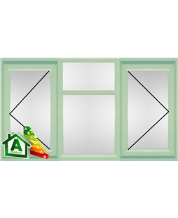 The Portsmouth uPVC Double / Triple Glazing Windows in  Chartwell Green