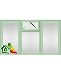 The Middlesbrough uPVC Double / Triple Glazing Windows in  Chartwell Green