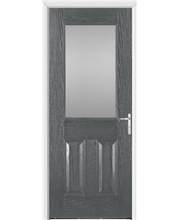 Exeter FD30s Fire Door in Grey