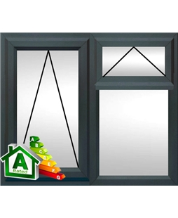 The Hull uPVC Double / Triple Glazing Windows in  Anthracite Grey